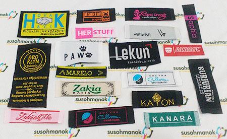 Jenis label baju woven
