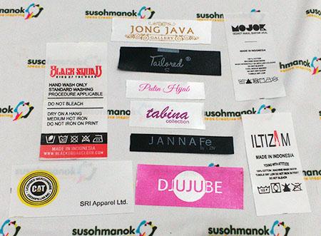 Label Baju Satin Printing